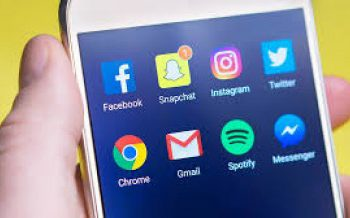 Phone showing Social Media